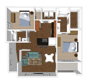 Maple 2 bedroom Crozet Apartment