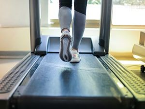 Running on the treadmill in your Crozet apartment fitness center